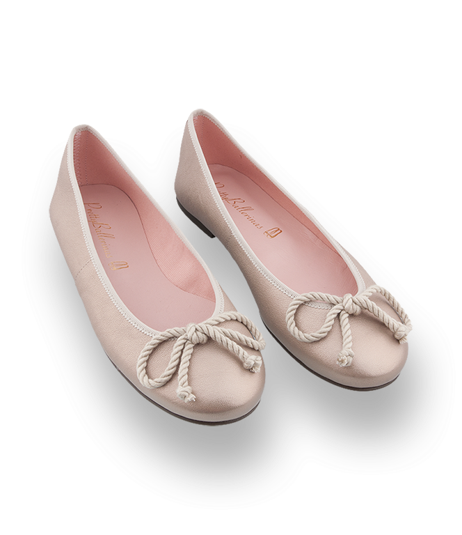 Pretty Ballerinas in gold - Leder!